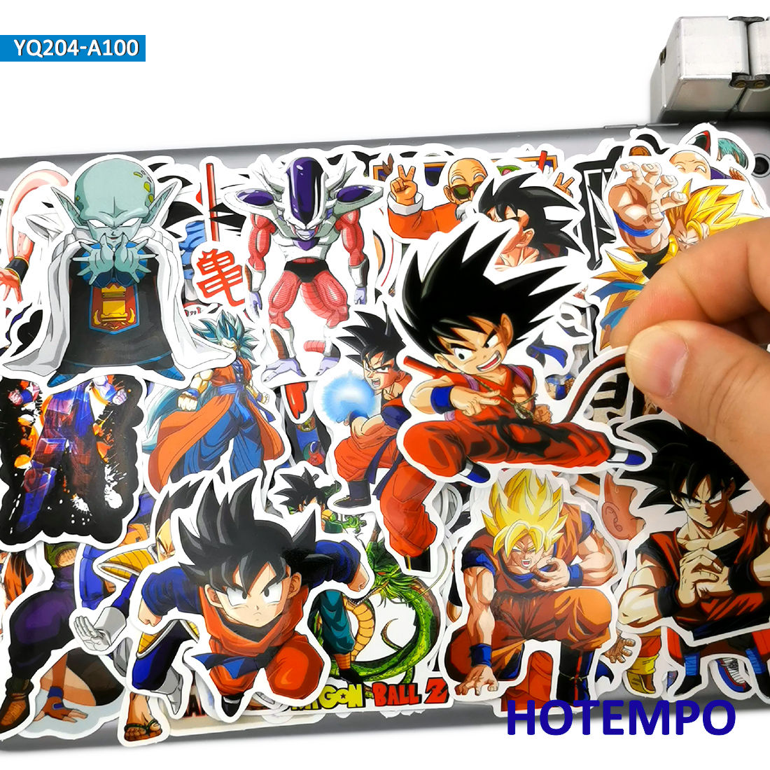 100pcs Mix No Repeat Dragon Ball Goku Anime Stickers For Mobile Phone Laptop Luggage Skateboard Gear Bike Guitar Case Stickers