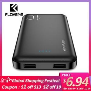 Image 1 - FLOVEME Power Bank 10000mAh For iPhone Xiaomi Powerbank External Battery Pack Portable Charger Mi Powerbank Poverbank Power Bank
