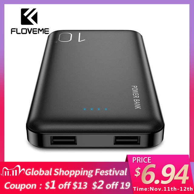 FLOVEME Power Bank 10000mAh For iPhone Xiaomi Powerbank External Battery Pack Portable Charger Mi Powerbank Poverbank Power Bank