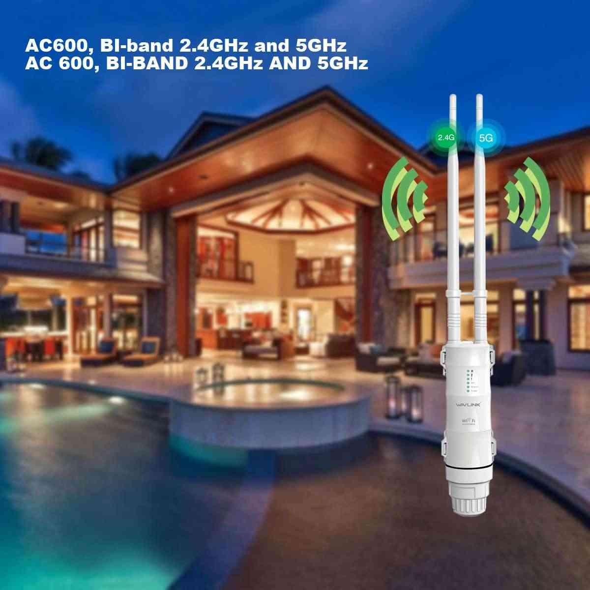 Wavlink AC600 27dBm Wifi Extender גבוהה כוח חיצוני Wifi משחזר 2.4G/150Mbps + 5 GHz/433 300mbps Wireless Wifi נתב עם WISP