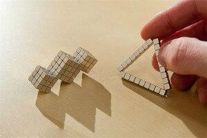 Image 4 - 216 ピース/セット 3 ミリメートルマジック磁石ブロックボールビーズ建物のおもちゃパズル