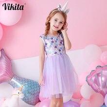Vikita/платье принцессы для девочек ясельного возраста; Летние