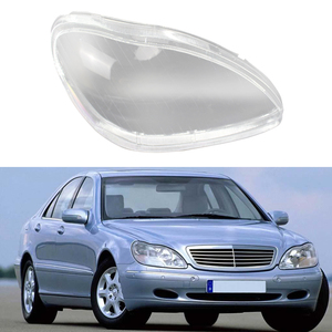 Image 3 - سيارة العلوي الزجاج غطاء الجبهة كشافات عدسة قذيفة غطاء واضح عاكس الضوء لمرسيدس بنز S600 S500 S320 S350 S2801998 2005