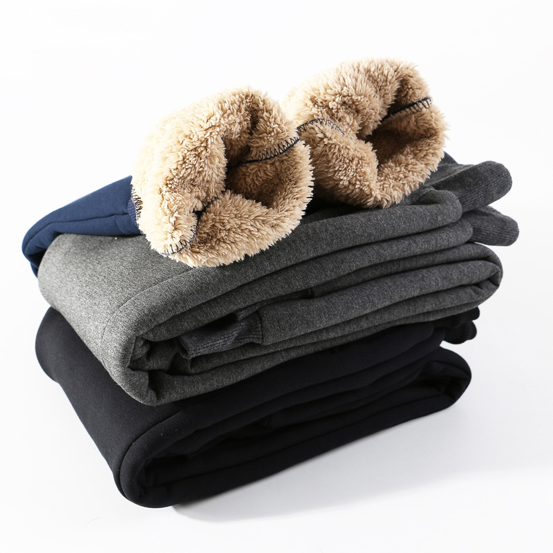 Activity For Men Autumn & Winter Berber Fleece Sports Pants Brushed And Thick Loose-Fit Plus-sized Warm Casual Pants