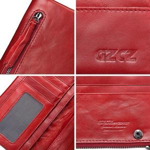 Image 4 - Ünlü marka hakiki deri kadın uzun cüzdan kadın fermuar kelepçe bozuk para cüzdanı bayan cüzdan moda cep telefonu cep para çantası