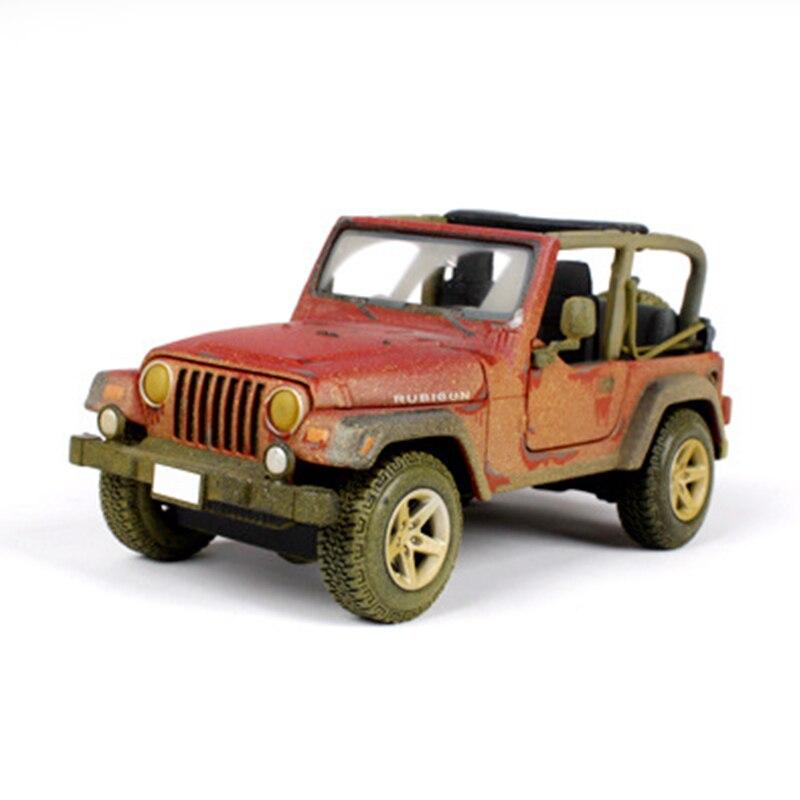 Voiture modèle simulation voiture 1:27 rétro Wrangler tout-terrain modèle décoration collection montrer cadeaux gxwj