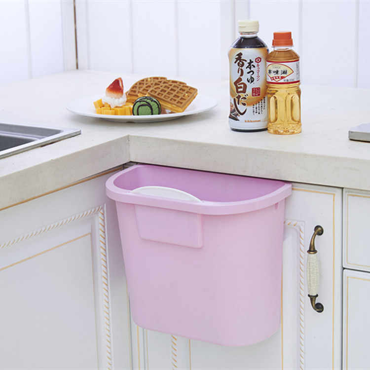 Kitchen Cabinet Door Hanging Trash Garbage Bin Can Rubbish Container  kitchen garbage plastic bucket