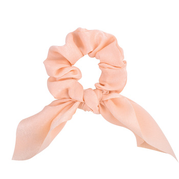 New Chiffon Bowknot Elastic Hair Bands For Women Girls Solid Color Scrunchies Headband Hair Ties Ponytail Holder Hair Accessorie 10