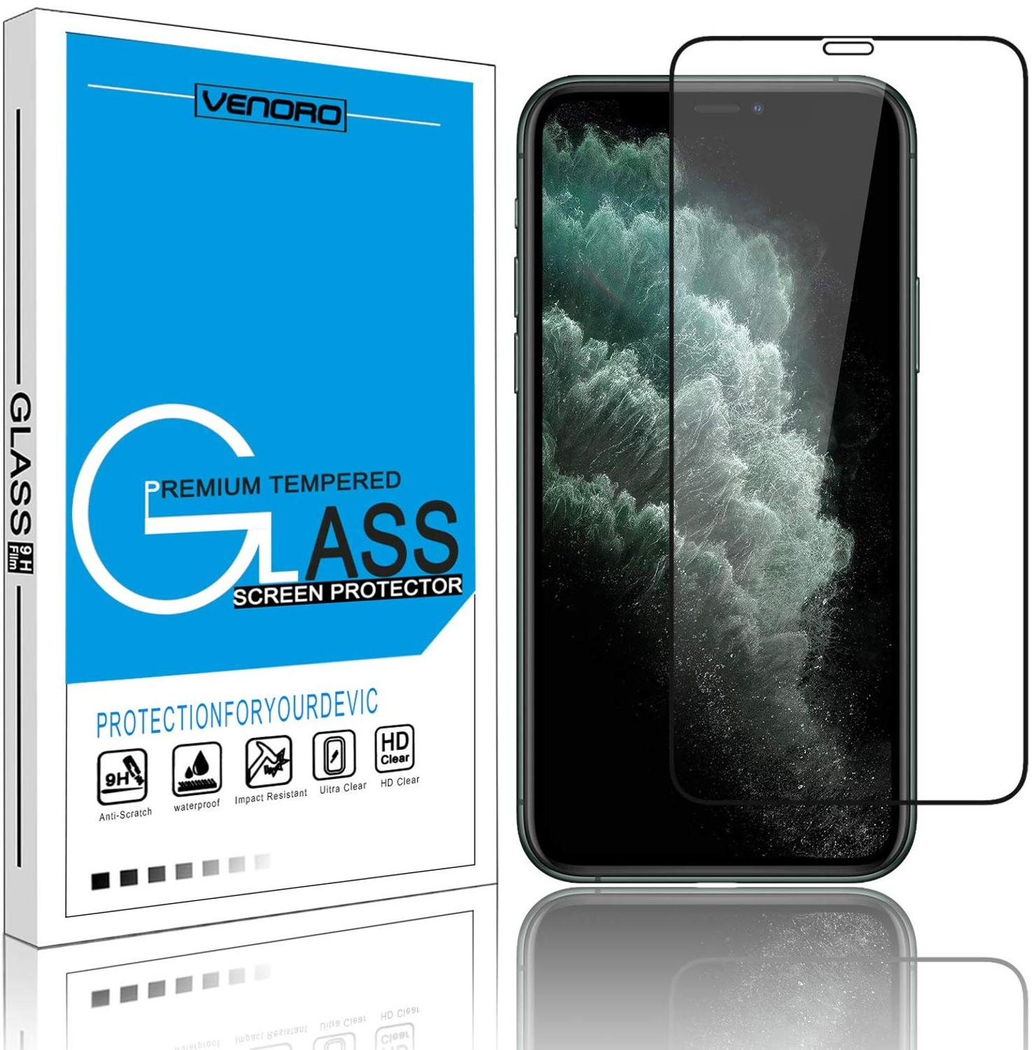 IPhone 11 Pro Max Screen Protector 6.5inch Glass Screen Protector 1000D 98N New 9H Ultra Clear HD Anti-Scratch Phone 678 Plus