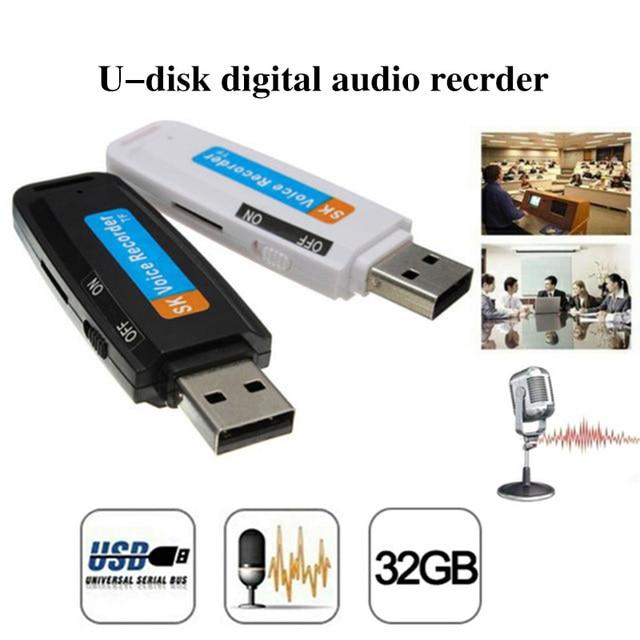 Enregistreur Audio numérique professionnel u-disk TF carte Flash USB 2.0 enregistreur vocal stylo Mini Dictaphone jusquà 32 go cartes Micro SD TF