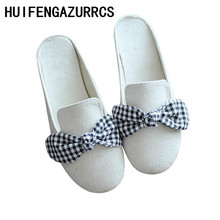 HUIFENGAZURRCS-Hot,Sweet Summer sandals,Butterfly Knots Girls Head-wrapped Slippers, Literary and Artistic Retro Slippers