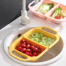 Foldable Fruit Vegetable Washing Basket Strainer Colander Collapsible Drainer With Handle Kitchen Tools