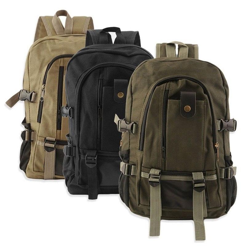 New Practical Travel Rucksack Multifunctional Travel Bucket Backpack Men 3 Colors Canvas College Student Unisex School Backpacks