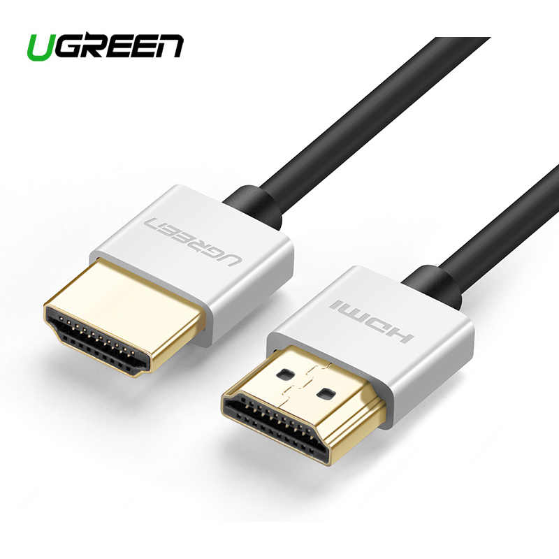 Kabel Ugreen 4K HDMI Slim kabel HDMI do HDMI 2.0 do PS4 Apple TV przejściówka 60Hz kabel Audio wideo Cabo kabel HDMI 2.0