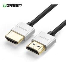 Ugreen 4K HDMI kablosu ince HDMI HDMI 2.0 kablosu PS4 Apple TV Splitter anahtarı kutusu 60Hz ses Video Cabo kablosu kablosu HDMI 2.0