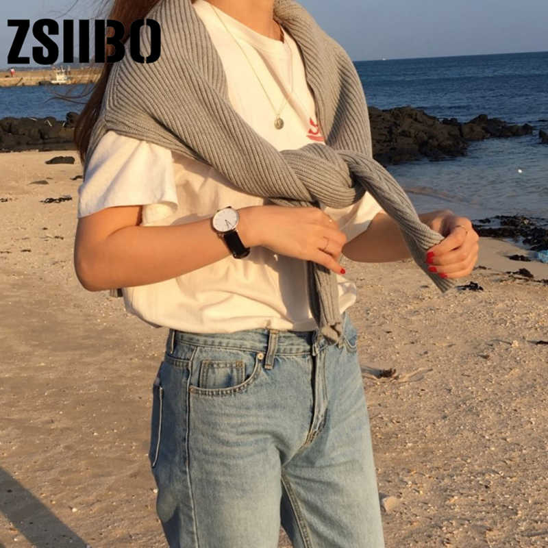 2019 fashion new solid color winter cropped sweater O-neck long-sleeved knitted pullover Korean version of loose simplee apparel