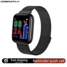 Cobrafly P4 Smart Watch Women Men 1.4 Inch Full Touch Screen IP67 Waterproof Heart Rate Monitor Clock PK P68 P70 P80 for Xiaomi