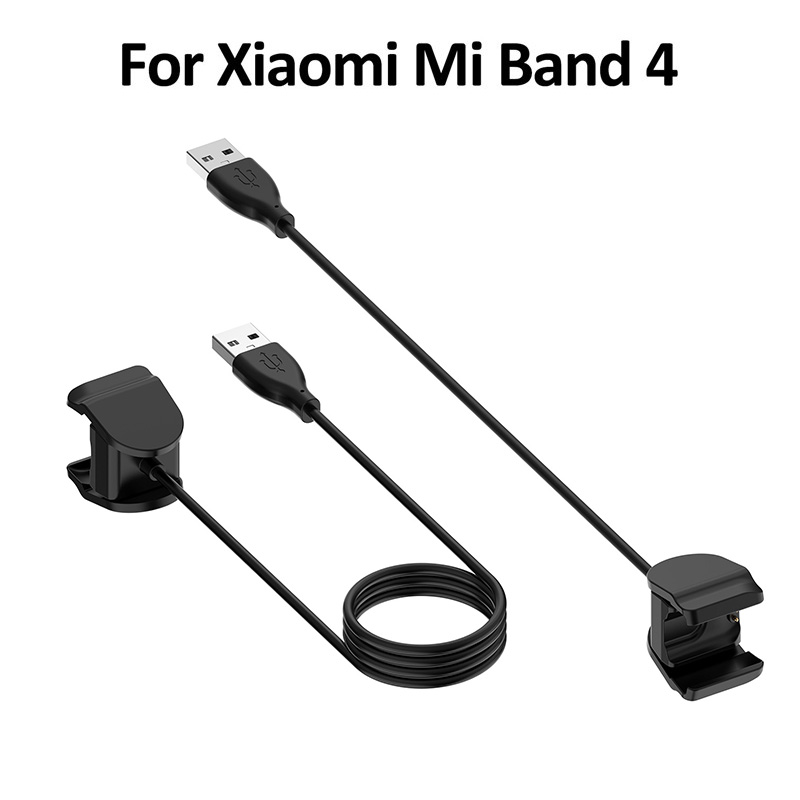 USB Charging Cable For Xiaomi Mi Band 4 Bracelet Replacement Cord Charger Adapter Compatible Clamp Adapter
