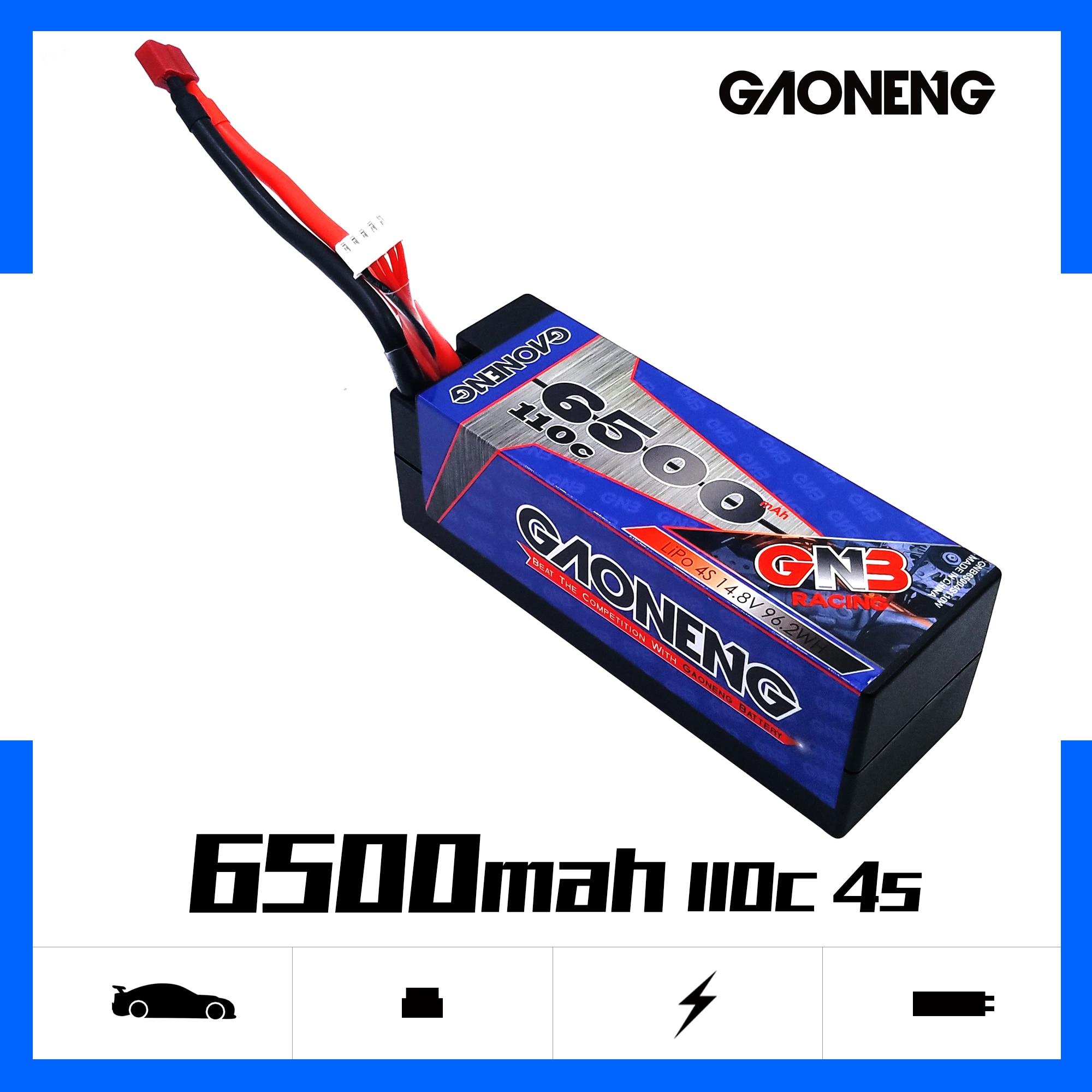 Gaoneng GNB 6500mAh 4S 14,8 V 110C/220C твердый корпус LiPo батарея T Разъем для RC HPI HSP 1/8 1/10 багги RC автомобиль Грузовик Рок Гусеничный
