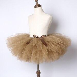 Однотонный коричневый и кофейный костюм с юбкой-пачкой для маленьких девочек, пышные балетные юбки-пачки для танцев, бальное платье для дет...
