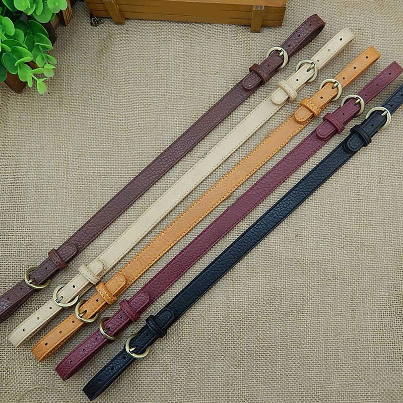 47~54CM Double-ended Adjust Handbag Belt Handle Shoulder Bag Strap For DIY Solid Color PU Leather Replacement Bag Accessories