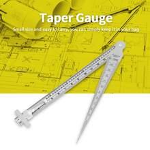 Outil d'inspection de trou de règle de profondeur de jauge d'écart de cône de soudure de jauge de palpeur d'acier inoxydable