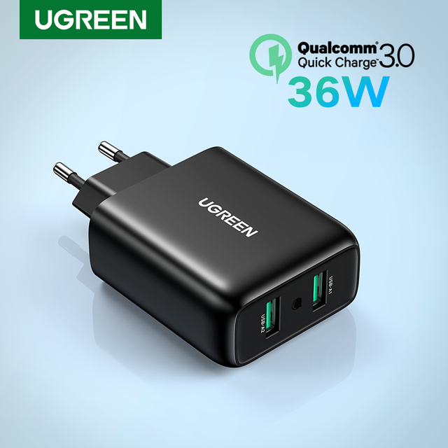 Ugreen USB Charger Quick Charge 3.0 36W Fast Charger Adapter QC3.0 Mobile Phone Chargers for iPhone Samsung Xiaomi Redmi Charger 1