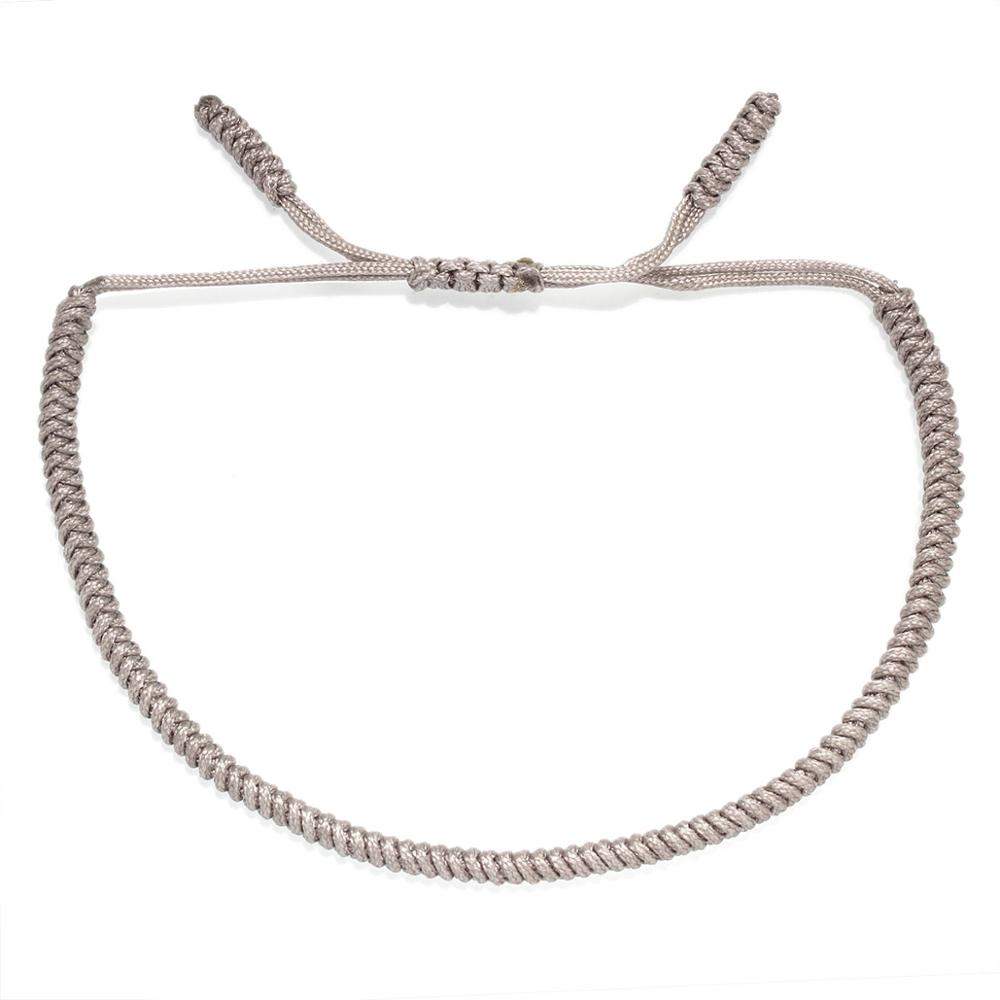 Boho Tibetan Buddhist Monk Luck knot Handmade Rope Bracelet Women Men 2020 New Fashion Grey Blue Black String Surf Jewelry Gift