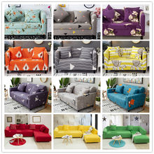 Elegant Modern Sofa Cover Spandex Elastic Polyester Floral 1/2/3/4 Seater Couch Slipcover Chair Living Room Furniture Protector(China)
