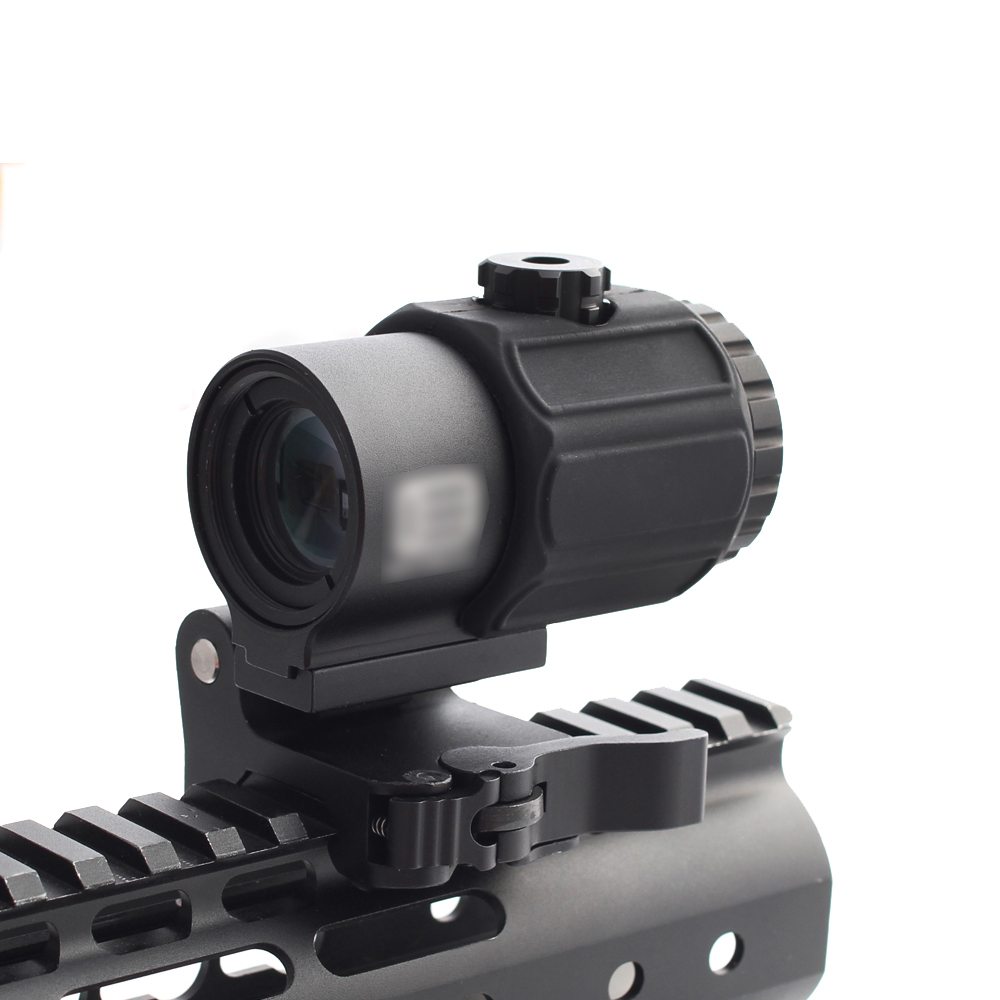 Magorui Tactical G43 3x Magnifier Scope Sight with Switch to Side STS QD Mount Fit for 20mm rail Rifle Gun-1