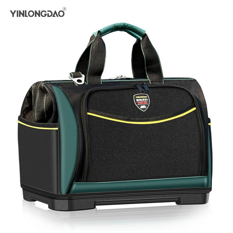 YLD Electrician Bag Multi-function Tool Bag1680D Oxford Waterproof Large Capacity Wear-resistant Tool Storage ToolKit DIY Tools