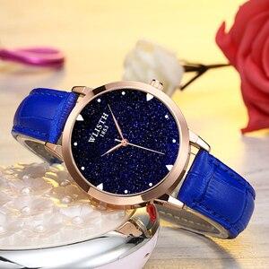 Звездный циферблат, часы, женские модные наручные часы, водонепроницаемые, в сдержанном стиле, цветной ремешок для часов