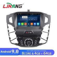 LJHANG автомобильный DVD плеер Android 9,0 для FORD FOCUS 2012 2013 gps стерео 1 Din автомобильный радиоприемник Авто 4 Гб+ 64 Гб FM