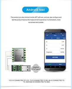 Image 4 - WitMotion WT31N AHRS IMU Sensore 2 Asse Angolo di Inclinazione Digitale (Roll Pitch) + 3 assi Accelerometro Inclinometro Per PC/Android/MCU