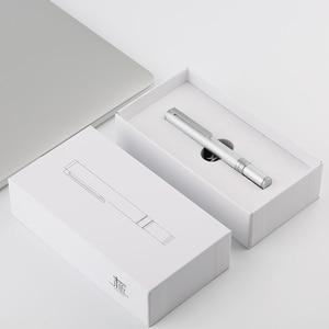 Image 5 - Moonman N1 Mini stal stopowa ze stopu aluminium srebrny kieszonkowy długopis 0.38/0.5mm EF/F stalówka Iridium pióro wieczne z pudełkiem