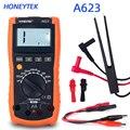HONEYTEK Профессиональный цифровой измеритель индуктивности тестер мультиметр ЖК-цифровой измеритель задний свет хранение данных A623 с тестов...