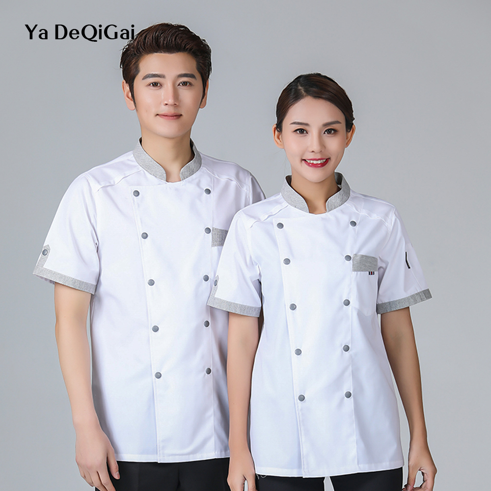 New Hotel Uniform Sushi Coffee Shop Cafe Cooking Men's Wear Chef Restaurant Uniform Breathable Breakfast Sushi Costume Wholesale
