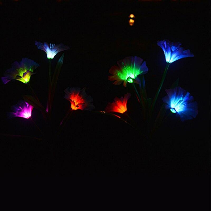 lampadas solares 4 cabeca chifre flor led decoracao da flor lampada do gramado colorido solar ao