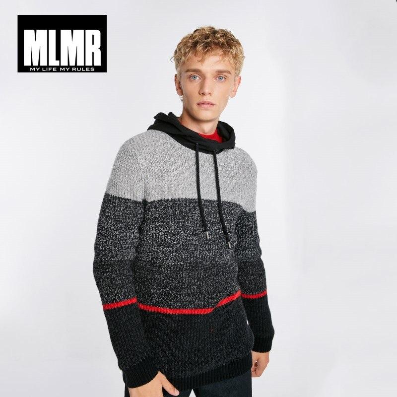 JackJones Men's Style Stitching Color Sweater Hoodies 218425513