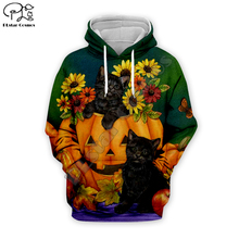 Halloween Pumpkin Black cat print Men 3d Hoodies Christmas skull Sweatshirt fruit apple tshirt zipper women unisex Tracksuit цена и фото