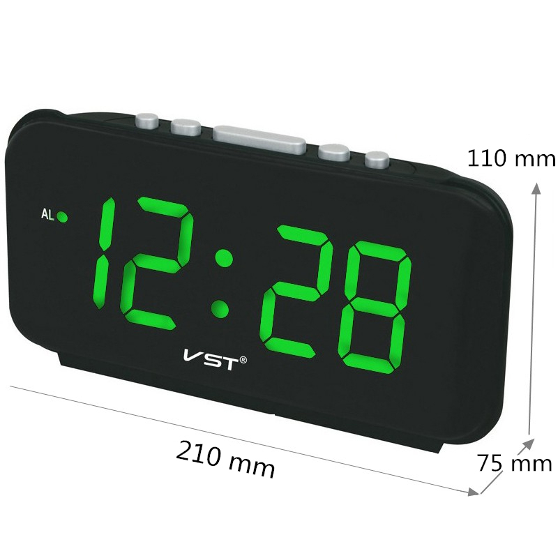 VST VST-806 Digital Led Alarm Clock Big Numbers Desk Clocks with EU Plug Electronic Clock with Led Light Time AC Power image