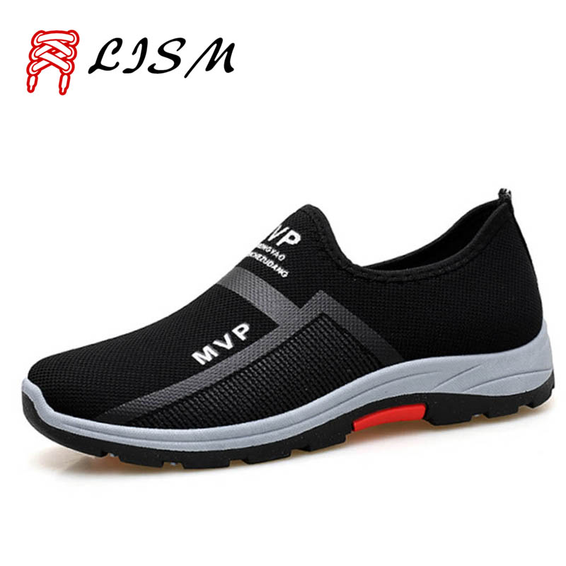 2019 Autumn Outdoor Hiking Shoes Men Breathable Mesh Mountain Shoes For Men Fashion Casual Men's Trekking Shoes Lazy Sports Shoe