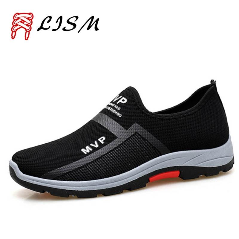 2019 Autumn Outdoor Hiking Shoes Men Breathable Mesh Mountain Shoes For Men Fashion Casual Men's Trekking Shoes Lazy Sports Shoe