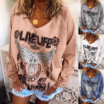 Plus Size Women Hippe Animal Print Sweatshirt Tops Ladies Casual Baggy Pullover Autumn Sweatshirts Ladies Female Streetwear Top image