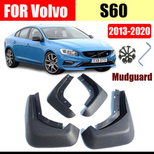 цена на Mud flaps for Volvo S60 Mudguards Fender volvo s60 mud flap splash guard fenders s60 mudguard car accessories Front Rear 4 PCS
