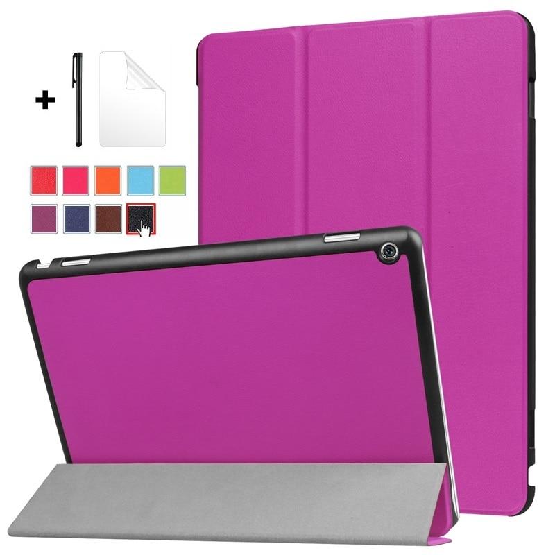 Smart Case For Huawei MediaPad M3 Lite 10 10.1 BAH-W09 BAH-AL00 BAH-L09 Tablet Cover Flip Stand Pu Leather With Free Pen+film