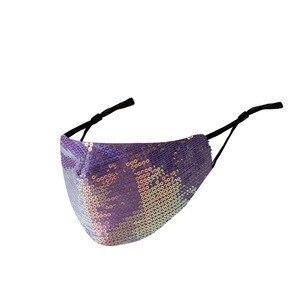 Image 5 - Nieuwe Shiny Rhinestone Kwastje Masker Decoratie Gezicht Accessoires Cover Gezicht Sieraden Voor Vrouwen Bruiloft Nachtclub Decoratie