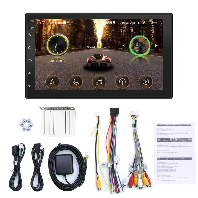 Universal 7 inch 2DIN Android 8.1 Car Radio GPS Navigation Audio Stereo MP5 Player