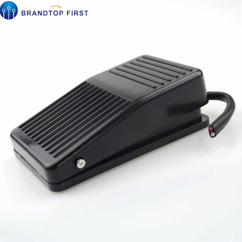 1Pcs  Nonslip Metal Momentary Electric Power Foot Pedal Switch