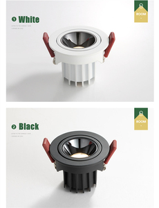 Image 3 - [DBF]2020 New Anti glare LED Embedded Ceiling Spot Light 7W 12W High CRI≥90 LED Recessed Downlight for Living room Home Aisle